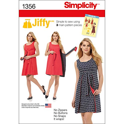 Simplicity 1356 Easy to Sew Women's Reversible Wrap Dress Sewing Pattern, Sizes 6-14