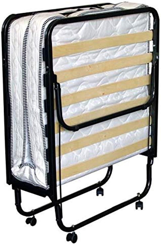 BFLYSHOP Gstebett klappbar 90X200 cm mit stabilem Metall-Rahmen Klappbett Faltbett bis 120 kg Raumsparbett incl. Matratze H. 11 cm, 90 x 200 cm