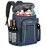 FORICH Insulated Cooler Backpack Lightweight Soft Cooler Bag Leakproof Backpack Cooler for Men Women...