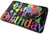 hgfyef Zerbini Antiscivolo Happy Birthday Ingresso Tappeto Tappeto per Interni/Esterni Ass...
