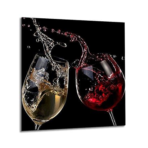 Crédence de cuisine en verre trempé résistant à la chaleur 60 x 65 cm
