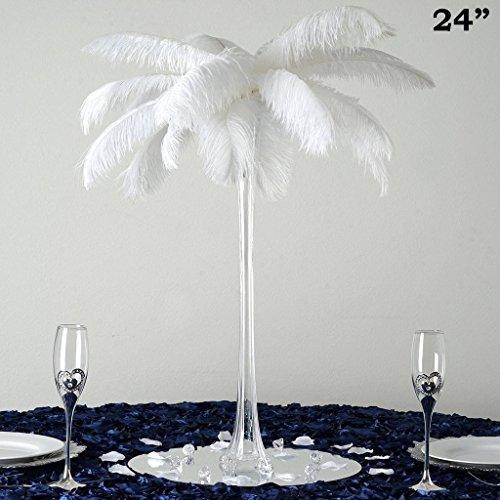 "BalsaCircle 6 pcs Wedding Centerpiece Eiffel Tower VASE - 24"" Tall - Clear"