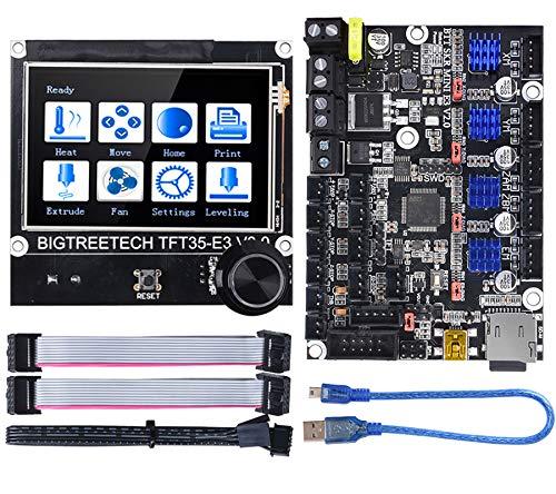 BIGTREETECH SKR Mini E3 V2.0 Steuerplatine 32 Bit Neues Upgrade für Creality Ender 3 mit TFT35 E3 V3.0-Smart Display Steuerplatine