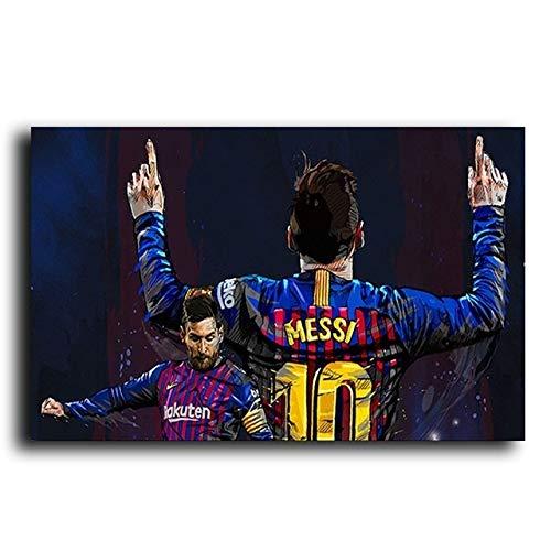 BAOZHEN Jugador de fútbol Deporte Estrella Lionel Messi Cartel Impresiones de Lienzo Arte de la Pintura Cuadro de la Pared decoración del Dormitorio de Cuadros