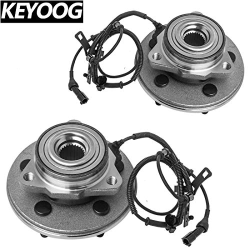 KEYOOG 2Pcs Front Wheel Hub and Bearing Assembly For 2006-2010 Ford Explorer Sport Trac (Exc.Explorer Sport),2006-2010 Mercury Mountaineer 515078 x2 [5 Lug W/ABS]