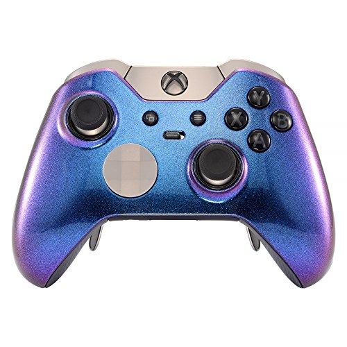 eXtremeRate Obere Hülle Schutzhülle Case Cover Oberschale Skin Schale Gehäuse für Xbox One Elite Controller(Chamäleon Lila Blau)