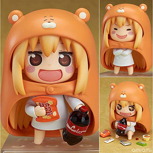 QTRT Himouto!Carácter Umaru-chan Doma Umaru Q versión Toy intercambiable cara móvil Figura PVC juego de dibujos animados animado regalos Modelo estatua figura de juguete coleccionables Decoraciones fa