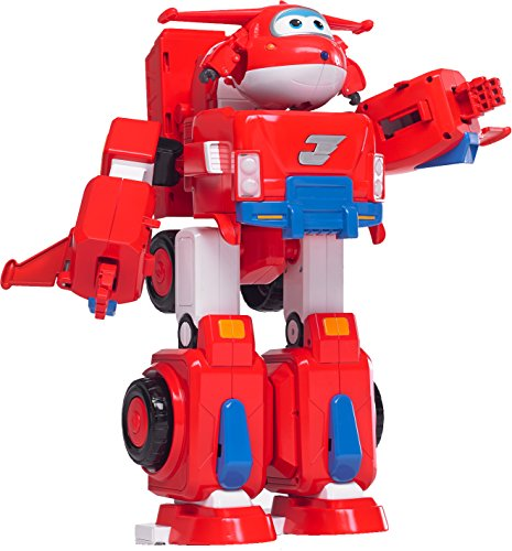 Super Wings - Jett's Super Robot Suit Large Transforming Toy Vehicle | Includes Jett | 5' Scale,...