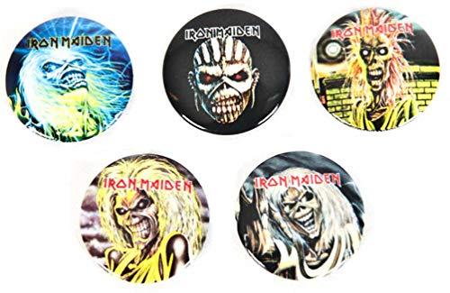Iron Maiden - The Faces of Eddie Button (Badge Pack) Rock Merchandisin
