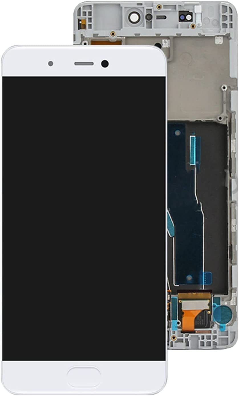 SYFANG Fit for Xiaomi Xiaomi 5S Mi5s M5s Pantalla LCD Pantalla táctil Panel digitalizador Reemplazo Fit for Xiaomi Mi 5S Pantalla LCD del teléfono(Color:White with Frame)