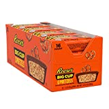 REESE'S BIG CUPS with Pretzels Milk Chocolate Peanut Butter Cups Candy, Easter, 1.3 oz Pack (16 Count)