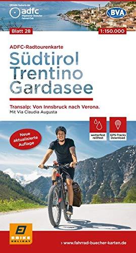 ADFC-Radtourenkarte 28 Südtirol, Trentino, Gardasee 1:150.000, reiß- und wetterfest, GPS-Tracks Download: Transalp: Von Innsbruck bis Verona. Mit Via Claudia Augusta (ADFC-Radtourenkarte 1:150000)