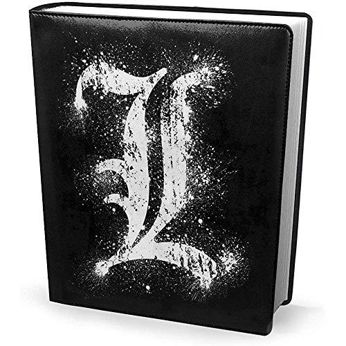 Portada del libro 9x11 pulgadas Death Note L Símbolo-Estirable Lavable Reutilizable