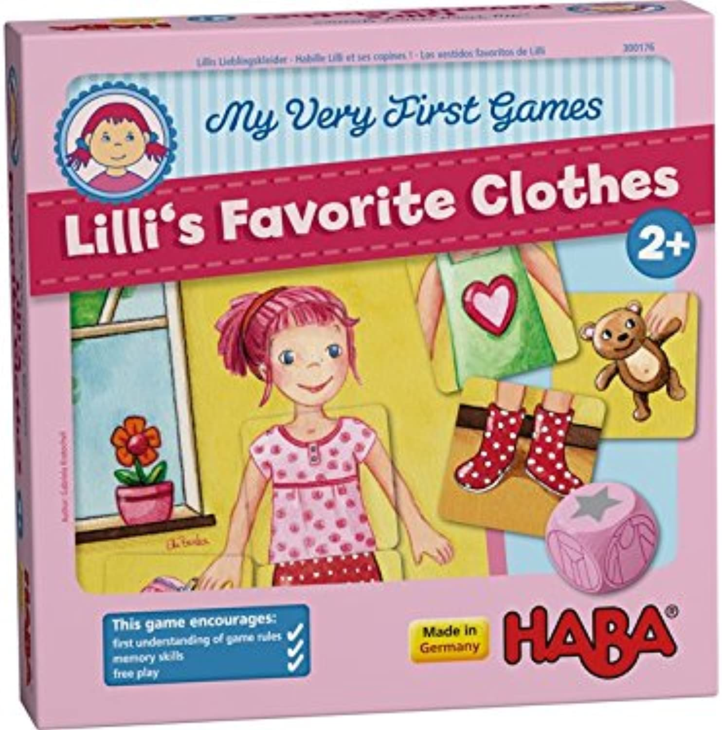 HABA My Very First Games  Lilli's Favorite Clothes Memory Game (Made in Germany)