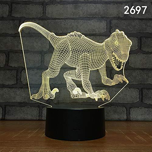 Neue Dinosaurier Acryl Stereo Freunde Spielzeug PC 3D LED Nachtlicht Tischlampe Nachttisch Dekoration Kinder Geschenk