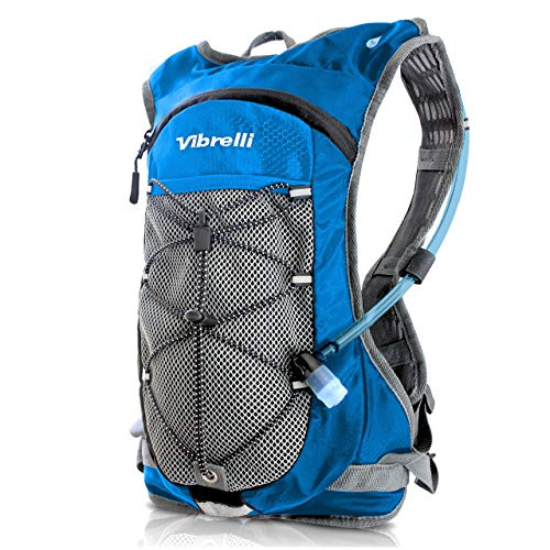 Vibrelli Hydration Pack & 2L Hydration Water Bladder - High Flow Bite Valve - Hydration Backpack with Storage - Lightweight Running Backpack, Also for...