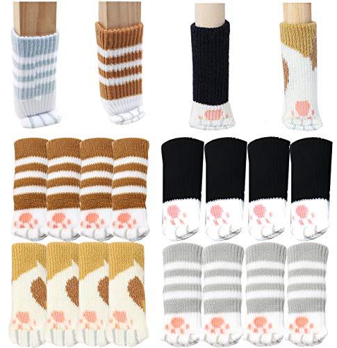 Liuer 32PCS Fundas Protectoras para Patas de sillas,Unidades de Calcetines para Silla,Almohadilla Antideslizante para Muebles,Protector de Piso(Ajuste Antideslizante de 6 a 17cm) 🔥