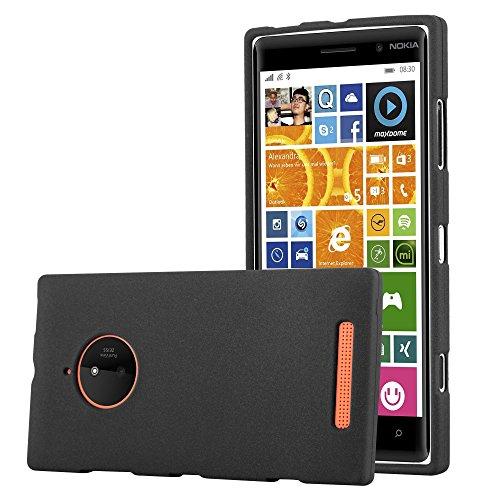Cadorabo Custodia per Nokia Lumia 830 in Frost Nero - Morbida Cover Protettiva Sottile di Silicone TPU con Bordo Protezione - Ultra Slim Case Antiurto Gel Back Bumper Guscio