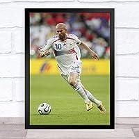 ポスター-ジネディーヌジダン レアルマドリード Zinedine Yazid Zidane Real Madrid フランス テーマ - サイズ:33x43cm(額縁を送る)