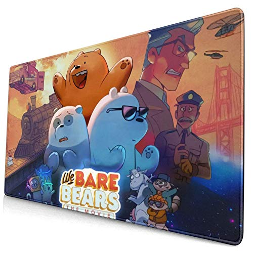 We Bare Bears Tappetino per Mouse da Gioco Oversize Computer Learning Office Writing Desk Desk Pad