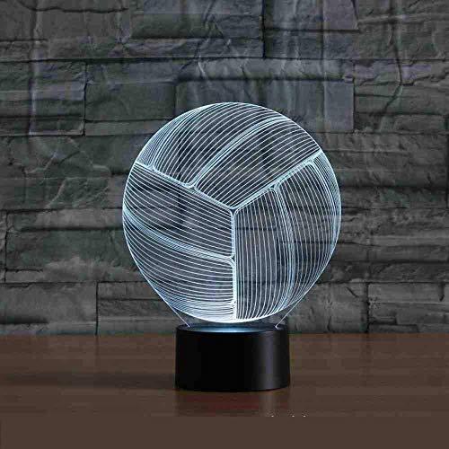 Volleyball Kleurrijke 3D-lampen, raak visueel licht gradient LED-nachtlampje kinderlamp
