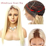 XRS Hair Wig #4/613 Blonde Ombre Lace Front Wig for Women With Baby Hair Pre Plucked Hairline Virgin Human Hair Wigs Straight Glueless Lace Wigs 12 Inch