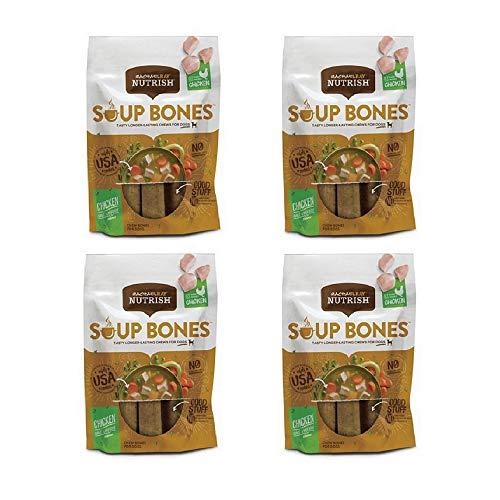 Rachael Ray Nutrish Soup Bones Dog Treats, Real Chicken and Veggies (4 Pack, Real Chicken & Veggies)