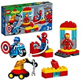 LEGO DUPLO Le labo des super-héros pour les tout-petits avec Spiderman, Ironman et Captain America, Ensemble pour tout-petits de 2 ans et plus, 183 pièces, 10921