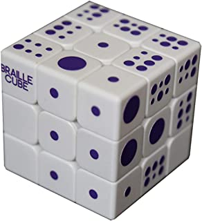 Speed Cube 3x3x3 3D Relief Effect Braille Magic Cube Puzzle,IQ Games Puzzles Special for The Blind Person,Sight Seakness,5.6cm