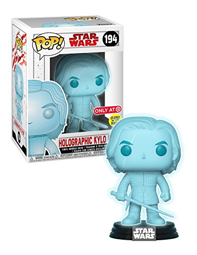 Funko POP! Star Wars Holographic Kylo Ren 194 Target Exclusive comes with Chalice Collectible Case