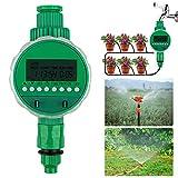 opamoo Bewässerungsuhr Automatische Wasser Timer LED Display Digital Wasser Zeitschaltuhr mit wasserdichtem Schutzdeckel Bewässerungstimer für Garten Gewächshaus Landwirtschaft