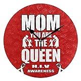 Runde Wanduhr mit Mutter HIV Awareness Print für Büro Wohnzimmer Schlafzimmer