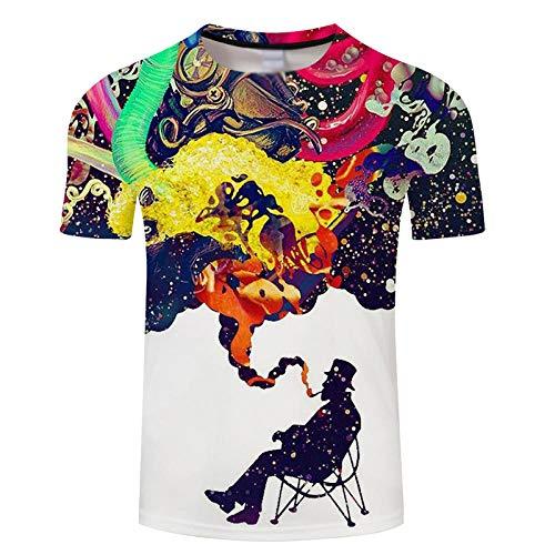 Lenceria Sexy De Mujer Lenceria Sexy Mujer Talla Grande 3D Print Color Smoke Graphics Camiseta-Camiseta De Manga Corta Ropa De Verano Casual Tops Unisex Hombres/Mujeres Oferta Imprimir Agua Man