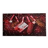 Tappeto Zerbino Natale Natalizio Digitale Rettangolare Rosso Antiscivolo -Variante 2