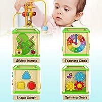 Top Bright - Cubo giocattolo multi-attività per bambini di 1 anno di età, giocattoli in legno per bambini di 12 mesi, regalo di compleanno #2