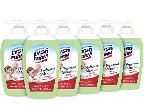 Lysoform Sapone Igienizzante Mani Delicatezza + Freschezza Confezione Rispamio 6 pezzi da 250 ML