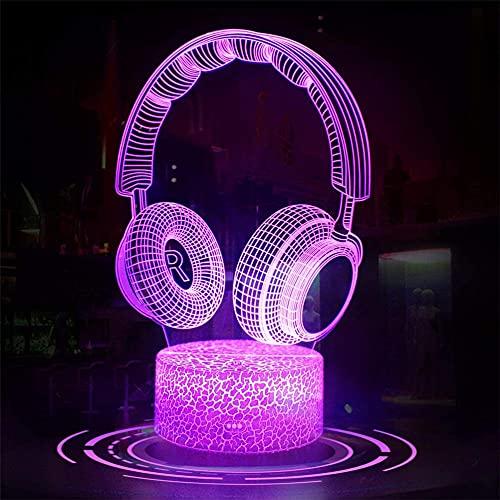 Auriculares 3D lámpara visual accesorios de juegos para juguetes de escritorio para niños, 7 años de edad niño regalos, regalo niño edad 7 6 5 4 3
