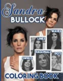 Sandra Bullock Lines Diagonals Dots Swirls Waves Coloring Book: Sandra Bullock Spirograph Styles Colouring Books For Adult And Kid