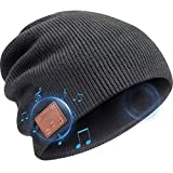 Powcan Sombrero Auricular Bluetooth con Linterna LED Bluetooth Beanie Compatible con M/úsica y Llamadas Gorro Bluetooth Unisex con Aud/ífono Inal/ámbrico Regalos Originales para Hombre Recargable
