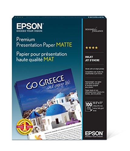 Epson Premium Presentation Paper MATTE (8.5x11 Inches