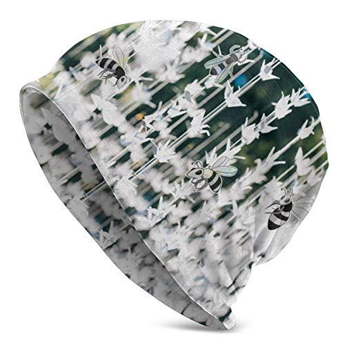 Gorro con diseño de Origami de grúa Colgante Blanca, Turbante elástico Holgado y Holgado Ligero para Hombres y Mujeres, Gorra de confinamientoDiademas