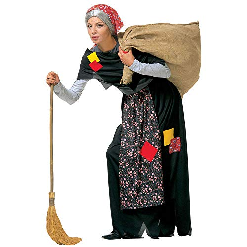 Widmann Befana Gonna Con Grembiule Scialle Foulard Costumi Completo Adulto Party 802 Donna, Multicolore, (S), 8003558350414