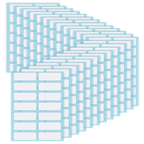 Cartella di File Etichette di Nome Etichette Adesive Limatura Etichette per Bottiglie Tazza Bianco Rettangolo Etichette Adesive Prezzo, 13 x 38 mm, Confezione da 336