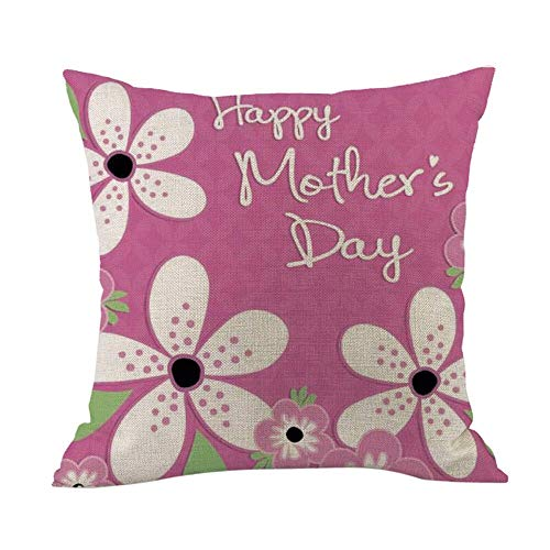 NO logo El diseño Innovador Moda de la ejecución Exquisita Cojines Lindo día sofá Cama casa decoración de Flores de Color Rosa Almohada Feliz de la Madre de cojín Dulce meditación (Cor : P)