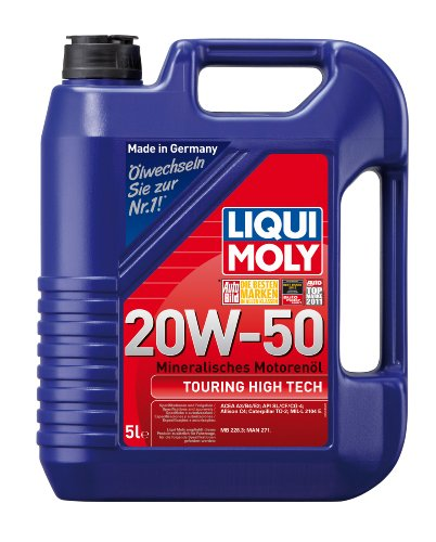 LIQUI MOLY 1255 Touring High Tech Motoröl 20 W-50, 5 L