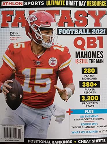ATHLON SPORTS FANTASY FOOTBALL MAGAZINE 2021-QB1-MAHOMES IS STILL THE MAN