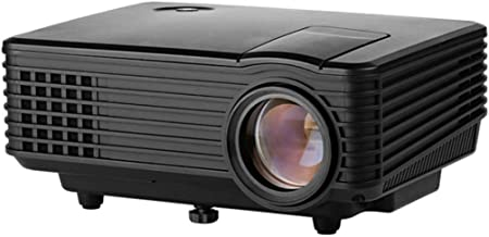 ZGYQGOO RD-805 HD LED Micro Projector Mini Home Home Theater Projector, Business Office Projector, Home Projector HD Home Intelligent Projector,Portable Video Projecto,Black