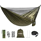 Camping Hammock with Mosquito Bug Net Portable Lightweight Parachute Nylon Hammock for Backpacking