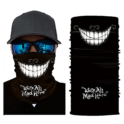 MMLC Fishing Face Shields Bedrucktes Multifunktionstuch Bandana Halstuch Kopftuch: Face Shield aus Mikrofaser - Material ist flexibel und atmungsaktiv - Maske fürs Motorrad-, Fahrrad- Skifahren (E)