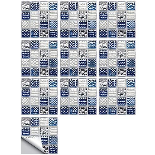 BESPORTBLE 10 Unids Pegatinas de Azulejos de Mosaico Pegajosas Pegatinas de Azulejos Mexicanos Tradicionales Baño Cocina Backsplash Decoración Tatuajes de Pared a Prueba de Agua Muebles